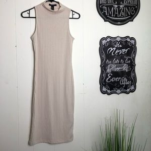 Forever XXI Ribbed Tan Dress